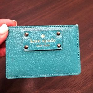 Kate Spade Card Holder Aqua